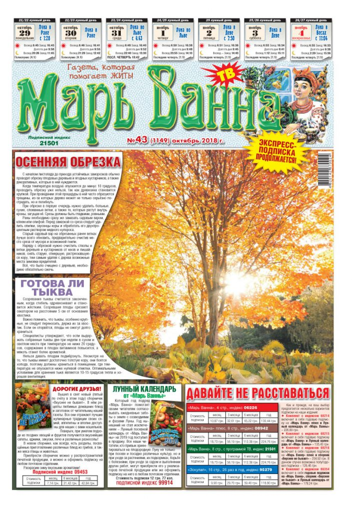 Газета «Марь Ванна» ТВ